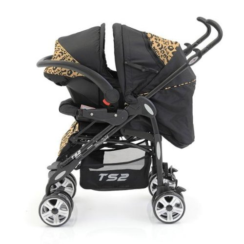 Babystyle Ts2 Travel System Baby Pushchair Pram (leopard) With Footmuff & Changing Bag Picture