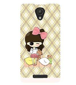 Printvisa Animated Girl Holding Teddies Back Case Cover for Xiaomi Redmi Note 2::Xiaomi Redmi Note 2 (2nd Gen)