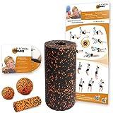 Blackroll Orange (Das Original) Selbstmassagerolle Starter- Set inkl. Übungs-DVD und Übungsposter