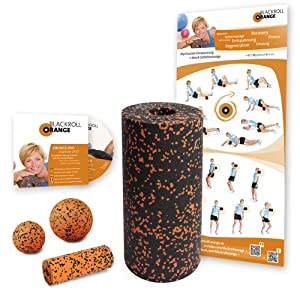 Blackroll Orange Foam Roller Starter Set with Exercise DVD and Poster
