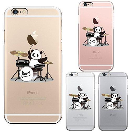 iPhone6 iPhone6S アイフォン ハード クリアケース カバー シェル ジャケット 保護フィルム付 ドラム パンダ