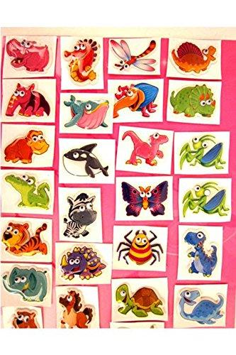 Smiffy's - Sticker animaux 3d avec yeux mobiles 3.5x4.5 cm (48)