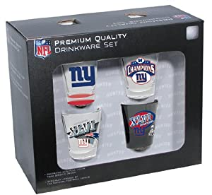 NFL New York Giants 2011 Super Bowl XLVI Champions 4-piece Collector Set