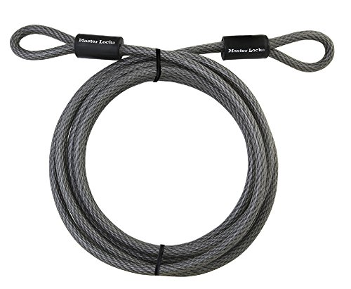Master Lock 72DPF Heavy Duty Looped End Cable, 15 Feet Braided Steel, 3/8-inch Diameter (Steel Security Cable compare prices)