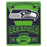 NFL Marquee Logo Lightweight Fleece Blanket (Seattle Seahawks)