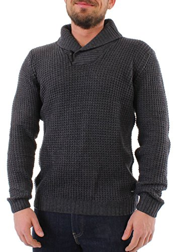 Solid KNIT Pullover uomo risulti hard Dark Grey