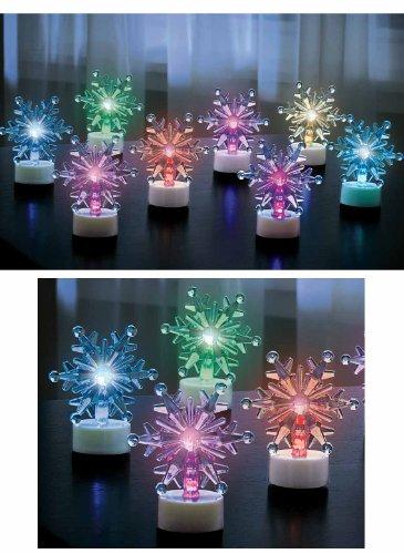 Color-Changing Snowflake Tea Lights