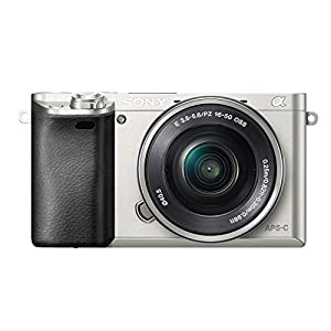 Sony A6000 Interchangeable Lens Digital Camera with SELP1650 Lens Kit - Silver (24.3MP)