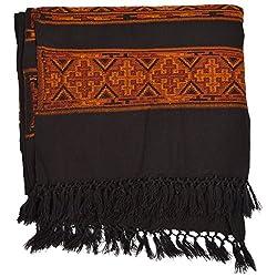Btex Women's Shawl (Black ,80 Cms)