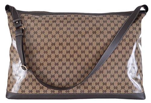 Gucci Unisex XL Crystal Line GG Guccissima Duffle Travel Bag