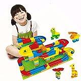 コロコロ玉落とし ビーズコースター スロープトイ レゴブロック兼用 積み木 47pcs 基本セット 幼児 落とすおもちゃ 子ども 知育玩具 By Baby Zone®
