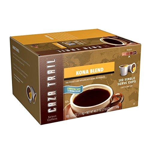 Caza Trail Coffee, Kona Blend, 100 Single Serve Cups (Coffee K Cups 100 compare prices)
