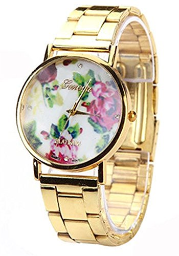 Viliysun-New Platinum Brand Stripes Fashion Leather GENEVA Watch For Ladies Women Dress Quartz Watch (Red) image
