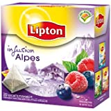 Lipton Infusion Alpes Framboise Myrtille 20 sachets - Lot de 3
