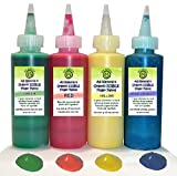 Go Green Finger Paint - All Natural, Edible, Organic, Dye Free, Gluten Free, 4 color set, In Complimentary Pail, Makes Your Toddlers Art Finger Painting Activities Even Safer