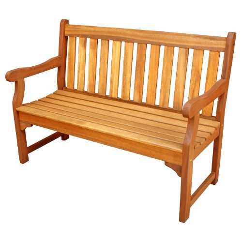 LuuNguyen – Adam Outdoor Four Foot Hardwood Bench (Natural Wood Finish)