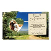 Dog Pet Memorial Picture Photo Frame In Remembrance
