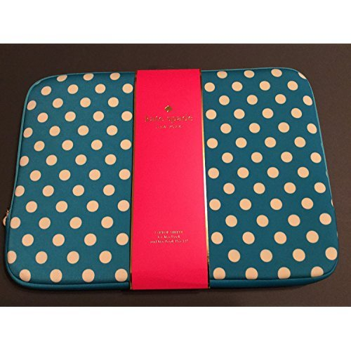 Kate Spade 13 inch Apple MacBook Pro Universal Laptop Sleeve Case Turquoise Polka Dot Neoprene (Mac Book Pro Case New York compare prices)