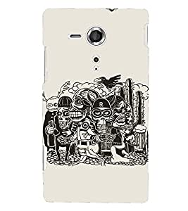 Kingcase Printed Back Case Cover For Sony Xperia SP C5302 - Multicolor