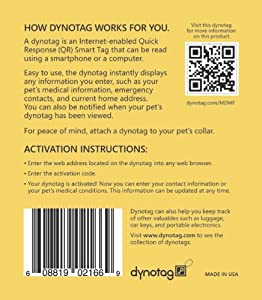 Dynotag® Web/GPS Enabled QR Code Smart Round Coated Metal Tag