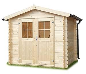 gartenhaus holzhaus 246x246 cm bausatz aus holz von gartenpirat garten. Black Bedroom Furniture Sets. Home Design Ideas