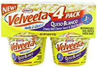 Velveeta Kraft Queso Blanco Microwaveable Shell Pasta and Cheese Sauce Cups 4 Pack , 9.56 Ounce