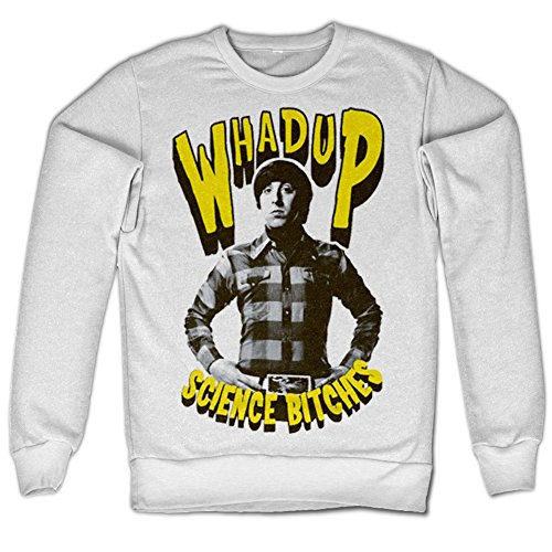 Whadup Science Bitches Sweatshirt (White), XX-Large