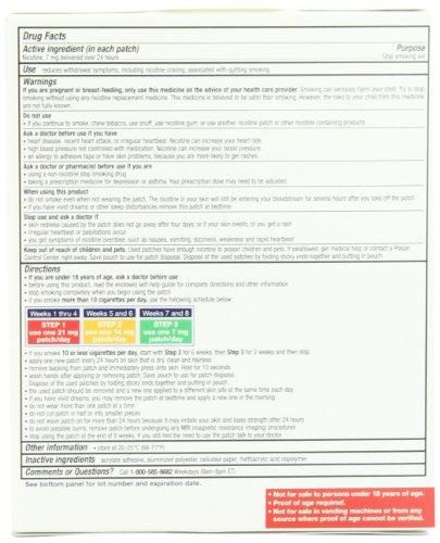 Nicotine Transdermal System Patch Stop Smoking Aid 7 Mg