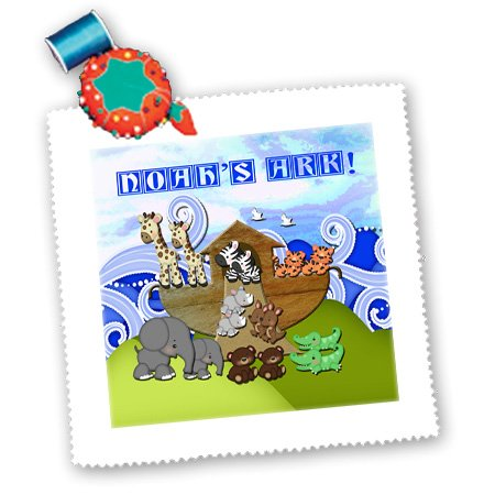 Beverly Turner Noahs Ark Design - Animals On Ark, Noahs Ark - Quilt Squares - 8X8 Inch Quilt Square - Qs_195836_3 front-234548