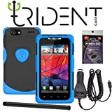 Trident Blue Aegis Case and Car Charger for Motorola XT912 Droid RAZR. Comes with Radiation Shield, Car charger and Stylus Pen.