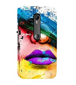 Vizagbeats Holi Lips Back Case Cover for Motorola Moto g3