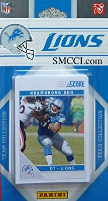 2011 Score Detroit Lions Factory Sealed 12 Card Team Set. Players Include Shaun Hill, Ndamukong Suh, Nate Burleson, Matthew Stafford, Louis Delmas, Alphonso Smith, Jahvid Best, Calvin Johnson, Brandon Pettigrew, Mikel Leshoure, Nick Fairley and Titus Youn