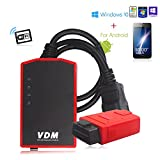 Autool®UCANDAS VDM Update Online Auto Scanner Wireless Universal Car Wifi Diagnostic Tool with a Honda Adapter Gift