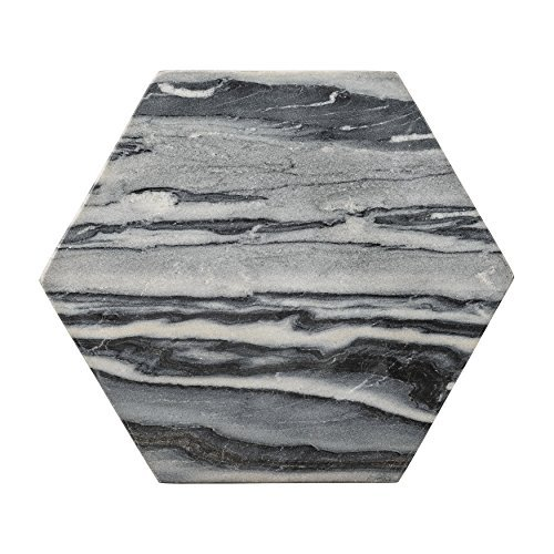 Bloomingville Marble Hexagon Cutting Board, Gray by Bloomingville