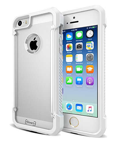 iPhone 5 / 5S / 5SE Case, Sivart Apple Case Shock-Absorption Bumper Anti Scratch Clear Back Ultra Thin Phone Case for iPhone 5S 4 Inch (White) (Cool Iphone 4s Back Glass compare prices)
