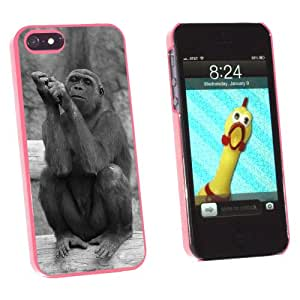 Graphics and More Gorilla Vintage - Snap-On Hard Protective Case for Apple iPhone 5/5s - Non-Retail Packaging - Pink