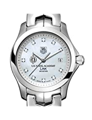 US Naval Academy TAG Heuer Watch - Women's Link with Mother of Pearl Dial