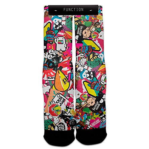 Function - Jdm Sticker Bomb Sublimated Crew Socks