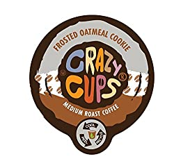 Crazy Cups Frosted Oatmeal Cookie Flavored Coffee Single Serve Cups made by Crazy Cups
