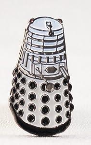 Metal Enamel Pin Badge Doctor Dr. Who Dalek White