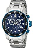 Invicta Men's 80044 Pro Diver Chronograph Dark Blue Dial Stainless Steel Watch