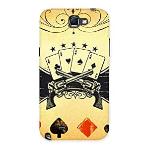 Premium Guns And Cards Back Case Cover for Galaxy Note 2