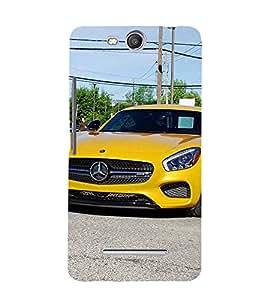 EPICCASE stunning car Mobile Back Case Cover For Micromax Canvas Juice 3 Q392 (Designer Case)