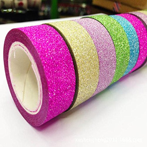 Mikey Store 5pcs Decorative DIY Tape Washi Sticky Paper Masking Adhesive Decorative Tape Scrapbooking 5x Washi Sticky Paper Masking Adhesive Decorative Tape Scrapbooking Paper Roll Tape (A) (Sticky Paper Masking Tape compare prices)