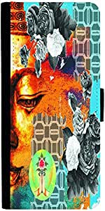 Snoogg Buddha The Future Designer Protective Phone Flip Case Cover For Apple Iphone 6