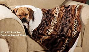 Soft Touch Pet Throw, 52 by 78-Inch, Tan/Ivory