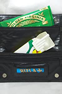Tobacco Pouch With RIZLA & SWAN EXTRA SLIM TIPS 17cm X 17cm + 4 Compartments