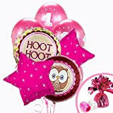 Owl Party Look Whoo's 1 Pink Balloon Bouquet