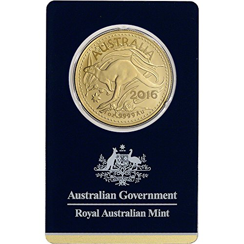 2016 AU Australia Gold Kangaroo (1 oz) in Sealed Assay $100 Brilliant Uncirculated Royal Australian Mint