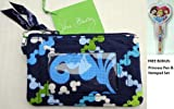 Disney Park Vera Bradley Zip Id Case Blue Where's Mickey & Bonus Dumbo Dollar